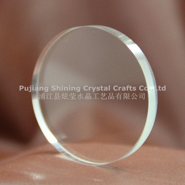 round shape blank crystal